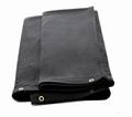 Zwarte doek 9m breed x 6m hoog