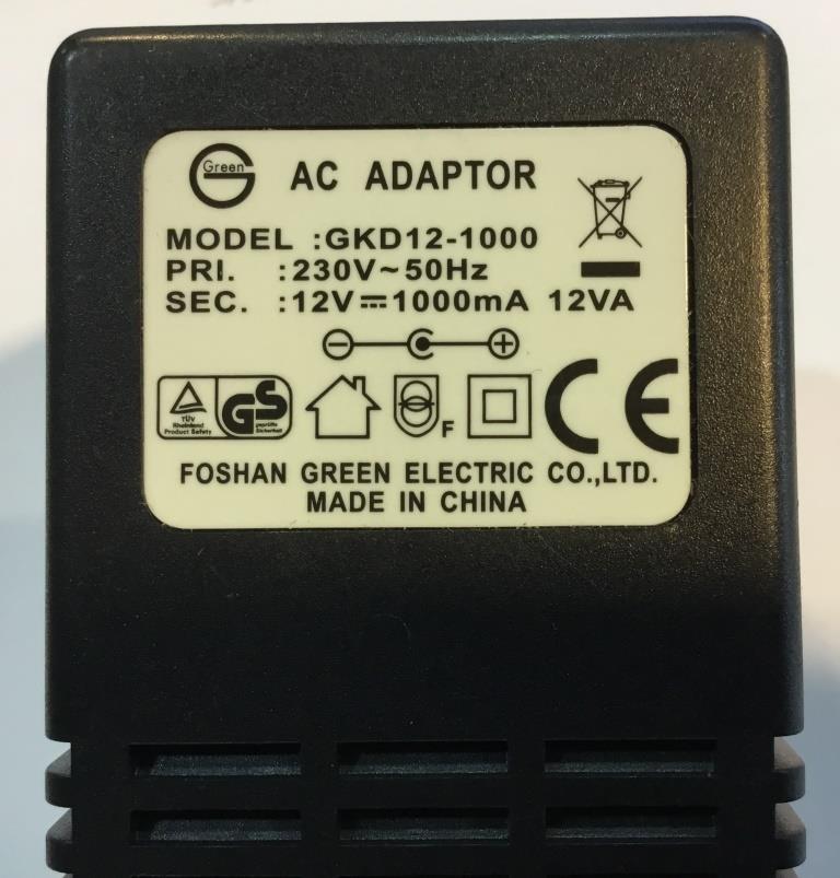 Power Supply   230V - 12VDC 1A  EU